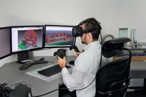 """<div class=""""bildtext"""">Die VR-Brille bringt Vorteile sowohl für die Kundenberatung als auch für das technische Büro.</div>"""