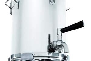 Mobiler Behälter aus Edelstahl für Transport und Zwischenlagerung flüssiger Produkte.<br />