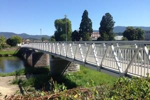 """<div class=""""bildtext"""">Rund 600.000 Euro investierte Gaggenau in die neue Brücke. </div>"""
