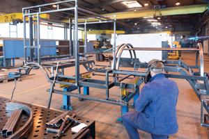 """<div class=""""bildtext"""">HAB Hallen- und Anlagenbau hat 60 Jahre lang Erfahrung im Stahlbau und inzwischen über ein Programm alle Arbeitsbereiche vernetzt.</div>"""