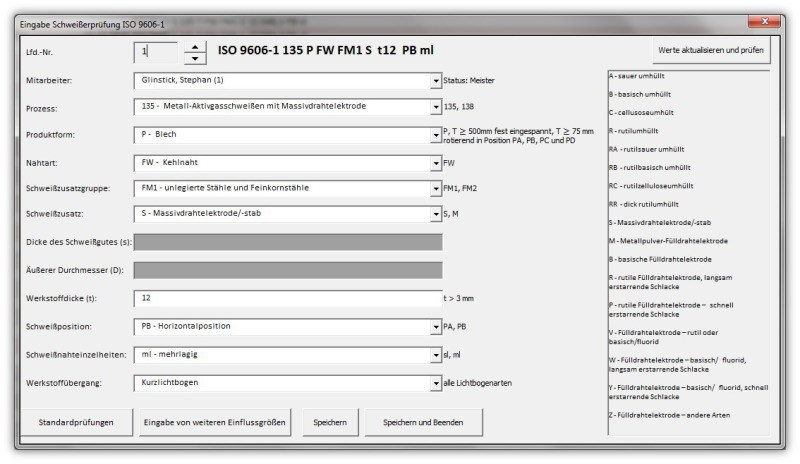 Turbo Schweißerprüfungen - Metallbau CB01