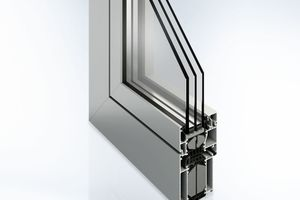 """<div class=""""bildtext"""">Das GWD 080: Ein Beispiel für ein Profil, aus dem sich sowohl Fenster als auch Türen mit vielfältigen Funktionen fertigen lassen.</div>"""