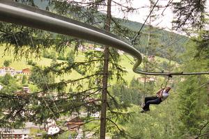 Die erste Fly-Line wurde im Klettergarten des Saarbrücker Stadtpark gebaut.<br />