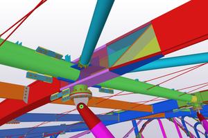 Das BIM Modell enthält alle notwendigen Informationen für Fertigung und Montage, einschließlich temporärer Bauteile.