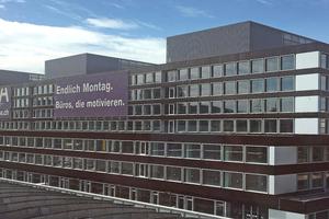 Die Ansichtsfassade des Ambassador Haus von der Thurgauerstrasse aus.