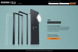 """<div class=""""bildtext"""">Das webbasierte Tool """"TEO"""" zur Türen- und Garagentorplanung. </div>"""