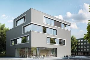 Für die Fenster des Wohnhauses wurde das filigrane Aluminiumsystem AWS 75 PD.SI verarbeitet.