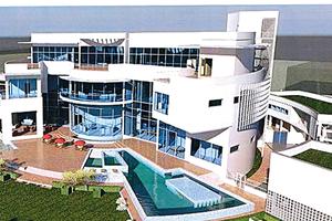 Beim Gebäude in Lagos wurde das TKI Fassadensystem 252 R² mit einer Ansichtsbreite des Profils von 38 mm verwendet.