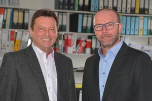 v.l.: Die Planer Hermann Dotzel und Harald Kraus von I.B.F. in Schweinfurt.