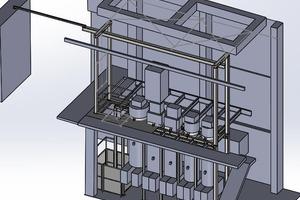 """<div class=""""bildtext"""">Die Abbildung zeigt die Siloanlage in einem 3D-CAD-Modell.</div>"""