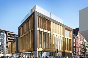 """<div class=""""bildtext"""">Rendering der Fassade des St-Giles-Circus in der Nähe der Subway-Station """"Tottenham Court Road"""".</div>"""