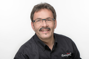 """<div class=""""bildtext"""">3D-Aufmaßspezialist Konrad Schwegler arbeitet seit 2016 bei Flexijet.</div>"""