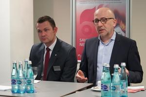 """<div class=""""bildtext"""">(v.l.) Stefan Dittrich, Director FeuerTrutz, und Günter Ruhe, Geschäftsführer von FeuerTrutz Network.</div>"""