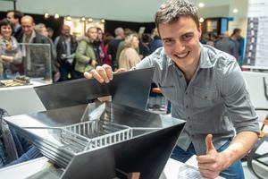 """<div class=""""bildtext"""">2. Platz: Anton Steinkohl vom Ausbildungsbetrieb Schlosserei Hackl.</div>"""
