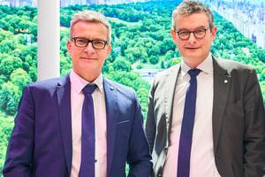 """<div class=""""bildtext"""">(v.l.) Dr.-Ing. Werner Jager und Ralf Seufert haben für 2019 die Übernahme des Beschichtungsbetriebs MBG Metallbeschichtung Gerstungen geplant.</div>"""