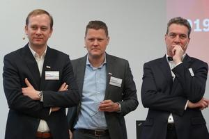 "<div class=""bildtext"">Die Geschäfsführer von Bosch Power Tools: vl. Lennart de Vet, Stephan Hölzl und der Vorstand Henk Becker.</div>"