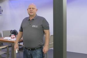 """<div class=""""bildtext"""">Rainer Krystjanczuk von ZFM Terrassendach debütierte 2019 auf der IHM.</div>"""