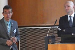 """<div class=""""bildtext"""">v.l. zwei Münchner Glasexperten: Prof. Dr.-Ing. Geralt Siebert und Prof. Dr.-Ing. Christian Schuler.</div>"""