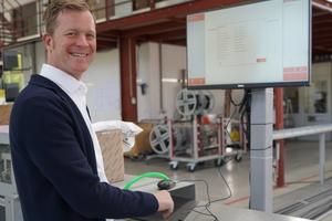 """<div class=""""bildtext"""">Jörn Enk, bei Orgadata Technischer Außendienst, hat bei Metallbau Bartholomeuus in Bergen das LogiKal-Tool MES implementiert.</div>"""