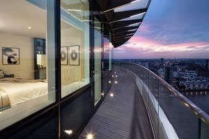 """<div class=""""bildtext"""">Eine Objektreferenz von Steelpro: Lombard Wharf, ein 28-stöckiges Wohnhaus, in Battersea bei London.</div>"""