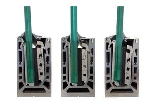 """<div class=""""bildtext"""">Steelpro: Die Alu-Halteschienen vom TYP LK 110 mit +/- 40 mm Spiel ermöglichen eine einfache Justierung.</div>"""