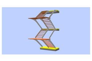 """<div class=""""bildtext"""">Wenn ich eine Treppe plane, orientiere ich mich bei der Beurteilung an der Komplexität der Konstruktion, dem Schwierigkeitsgrad bei der Herstellung und den möglichen Schadensfolgen im Versagensfall. </div><div class=""""bildtext"""">Die dargestellte Treppenanlage habe ich für ein Wohnhaus geplant und den Metallbauer bei der Umsetzung unterstützt. Die Wangen laufen vom EG bis ins OG durch, die Stufen und Podeste wirken aussteifend. Solange normativ keine eindeutigen Vorgaben gemacht werden, ordne ich diese Konstruktion dem """"eigenständigen Tragwerk"""" zu.</div>"""