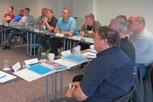 """<div class=""""bildtext"""">Etwa die Hälfte der Teilnehmer am Seminar Rettungswegtechnik kamen nach Fürth, um die Weiterbildung pflichtgemäß aufzufrischen.</div>"""
