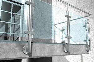 """<div class=""""bildtext"""">Typischer Einsatzfall für chemische Befestigungstechnik: das Geländer eines Glasbalkons.</div>"""