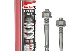 """<div class=""""bildtext"""">fischer Injektionsmörtel FIS HB 345 S mit der Ankerstange FHB II-A.</div>"""
