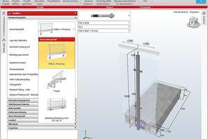 """<div class=""""bildtext"""">Aktuelle Version der fischer Geländer-Bemessungssoftware hat eine 3D-Grafik.</div>"""