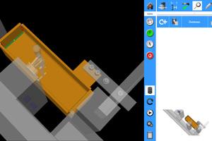 """<div class=""""bildtext"""">Das 3D-Modell lässt sich frei im Raum bewegen. Die von IRPS vorgeschlagenen Schweißnähte sind schon positioniert (grün).</div>"""