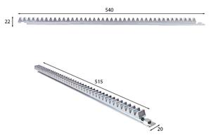 """<div class=""""bildtext"""">Mit der Stahl-Zahnstange werden die Alu-Profile für große freitragende Schiebetore noch robuster.</div>"""
