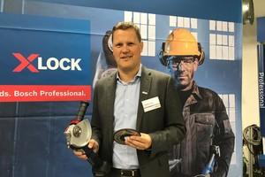 """<div class=""""bildtext"""">Powertool Geschäftsführer Stephan Hölzl hat das X-Lock Schnellwechselsystem auf der Fachpressekonferenz vorgestellt.</div>"""