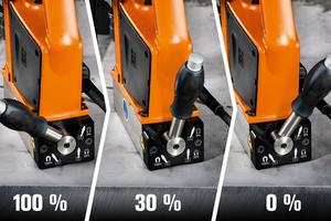 """<div class=""""bildtext"""">Der Permanent-Magnet kann manuell auf 30% und 100% Haltekraft eingestellt werden.</div>"""