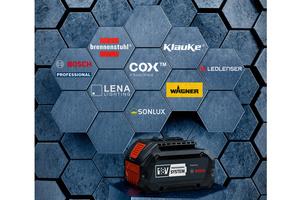 """<div class=""""bildtext"""">Ein Zukunftsprojekt: Derzeit gibt es sieben markenübergreifende Kooperationen für Bosch 18V-Akkus und Ladegeräte der neuen Systemplattform.</div>"""