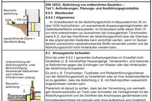 """<div class=""""bildtext"""">Anforderungen an die Ausbildung des unteren Anschlussbereiches aus Regelwerken. (Auszug Tab. 3.3 aus [1])</div>"""