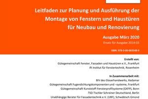 "<div class=""bildtext"">Der neue Montageleitfaden der RAL Gütegemeinschaft Fenster, Fassaden und Haustüren e.V. und ift Rosenheim.</div>"