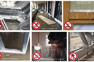 """<div class=""""bildtext"""">Fenster sind beim üblichen Bauablauf einem hohen Schadensrisiko durch andere Gewerke ausgesetzt.</div>"""