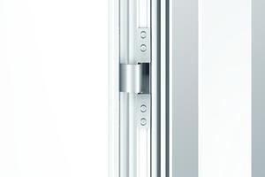 """<div class=""""bildtext"""">Roto Solid C Bänder tragen dem Design von Aluminiumtüren Rechnung.</div>"""