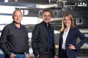 """<div class=""""bildtext"""">Das Führungstrio des Betriebs v.l.: Dirk Spix, Benedikt Belle und Aline Hernandez. </div>"""