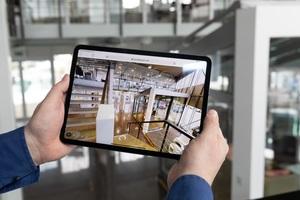 """<div class=""""bildtext"""">Unternehmer Andreas Grimm hat einen digitalen Zwilling seines Kasseler Showrooms auf seiner Firmenwebsite einstellen lassen.</div>"""
