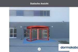 """<div class=""""bildtext"""">Mit der Augmented Reality-App 3D Entrance können reale Eingangssituationen mit aktuellen Produkten von dormakaba visualisiert werden. So lassen sich Vorstellungen der Kunden und Leistungen relativ gut abgleichen.</div>"""