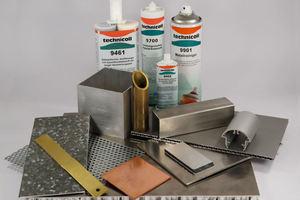 """<div class=""""bildtext"""">Ob Blech oder Stahl, ob Indoor oder in Außenbereichen, für das richtige Klebeergebnis ist jeweils ein spezieller Klebstoff nötig.</div>"""