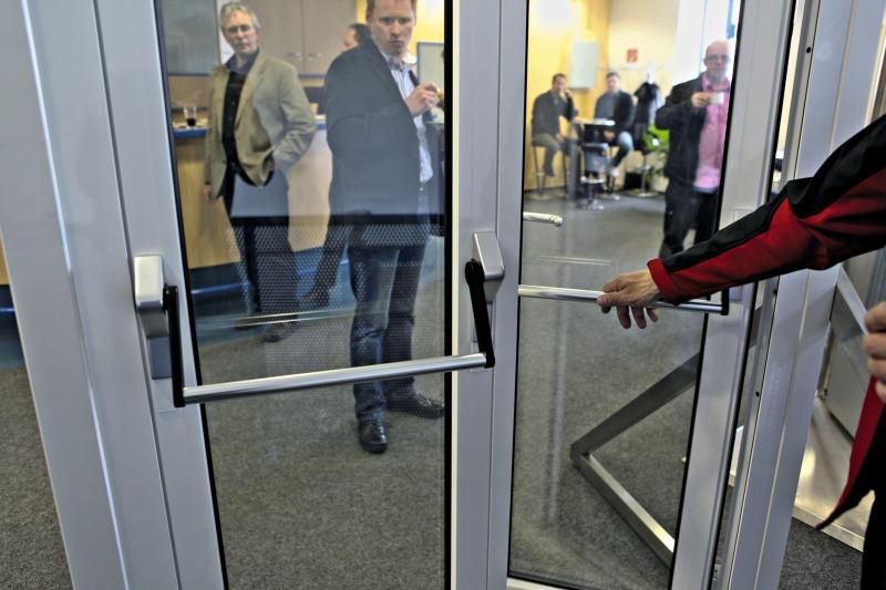 Die panicLock AP3 ist auch für zweiflügelige Türen geeignet