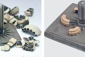 Die Firma Heinz Soyer räumt ein, dass das linke Foto (metallbau 03/2013) sachlich nicht richtig ist und verweist auf die richtige Darstellung rechts: ein Schweißbolzen MR 16 mit Keramikring auf 10 mm Dickblech<br />
