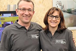 """<div class=""""bildtext"""">Geschäftsführerin Claudia Nowack mit ihrem Mann, Metallbaumeister Rainer Nowack.</div>"""