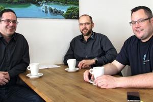 """<div class=""""bildtext"""">Das Kazi Unternehmertrio in Bern: Thomas Schmitt, Mathias Hächler und Andreas Fischer (v.l.n.r.).</div>"""