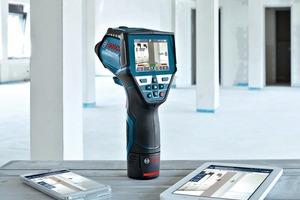 Der Thermodetektor GIS 1000 C Professional findet Taupunkte oder Wärmebrücken.
