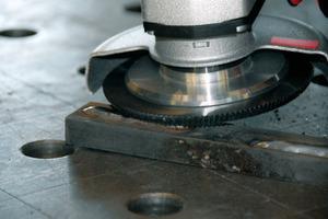 Ideal zur Schweißnahtbearbeitung in Stahl.<br />