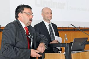 Dipl.-Ing. Ludwig Schmid (l.) von Lindner Fassaden und Prof. Christian Schuler (r.)<br />